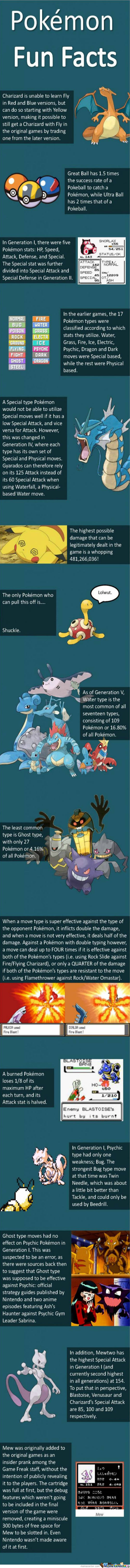 Fun Pokemon Facts (Sorry For Long Post!)