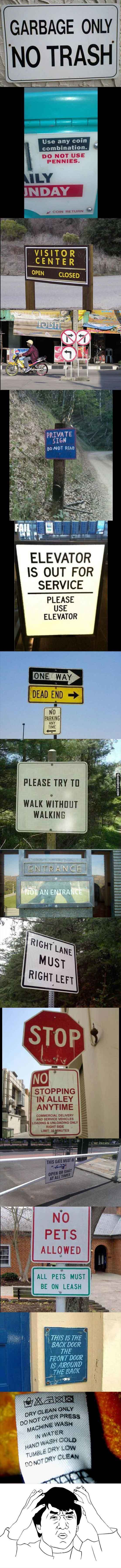 Funny Confusing Signs