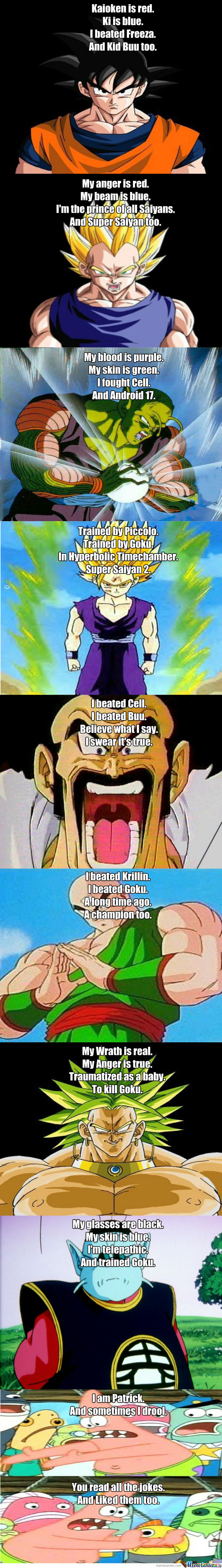 Funny Dbz Poems