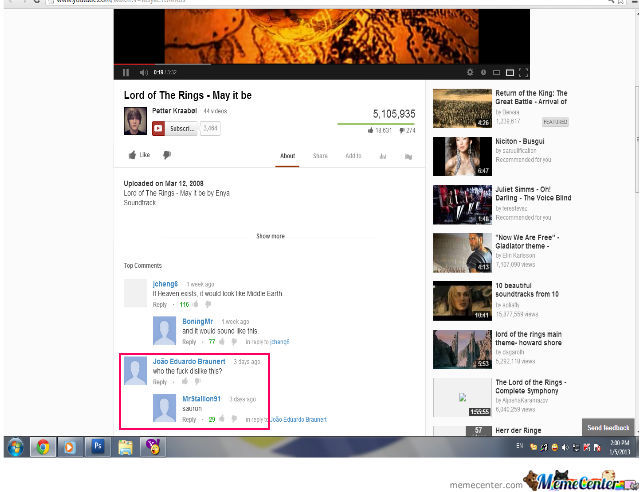 Funny Youtube Comment :d