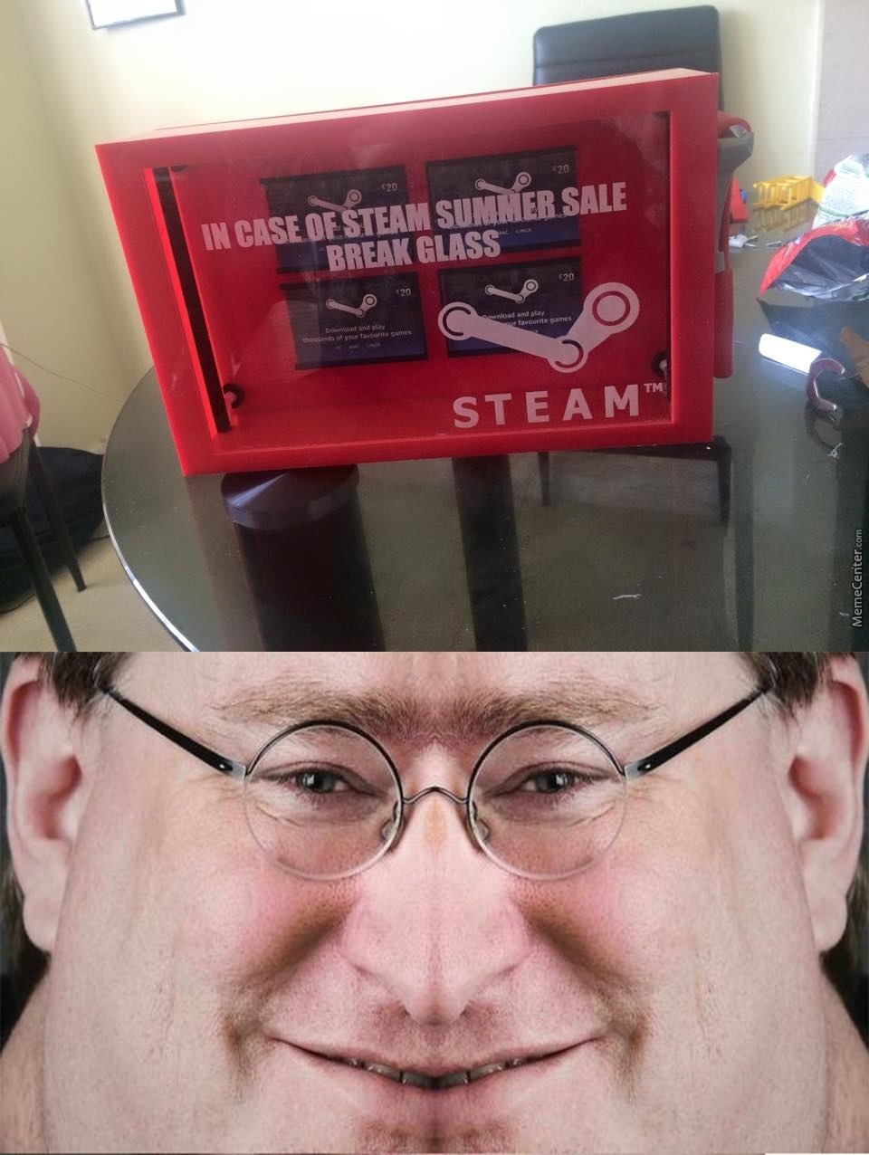 gabe newell is coming for your wallet_o_5371269 gabe newell is coming for your wallet by m h m meme center