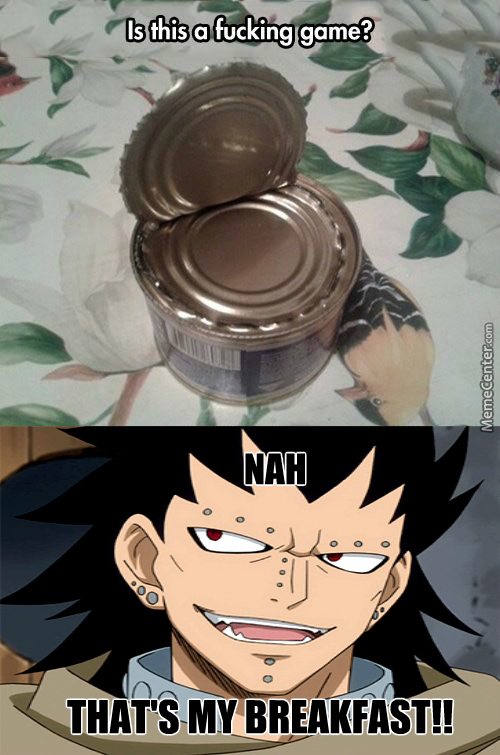 Gajeel's Breakfast (Anime: Fairy Tail)