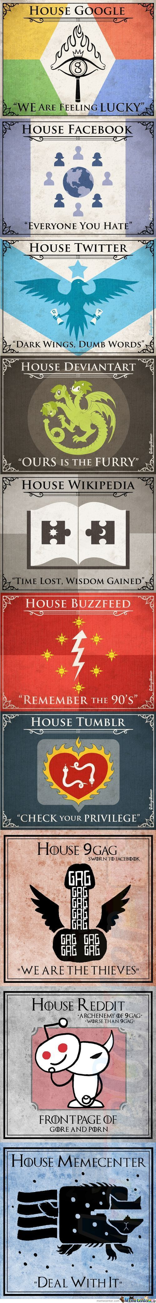 Game Of Throne Sigils For The Internet