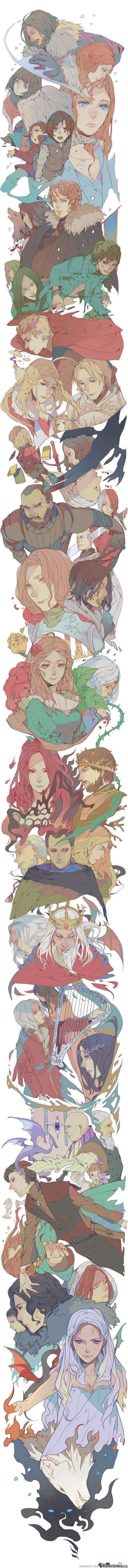 Game Of Thrones/a Song Of Ice And Fire Manga Style