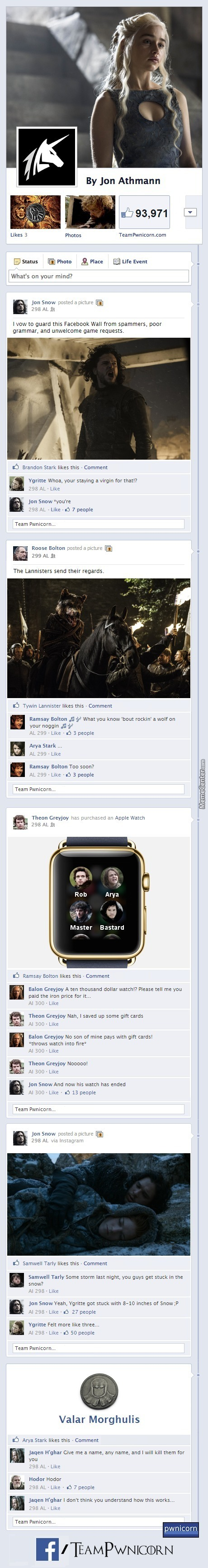 Game Of Thrones On Facebook (Part 2)