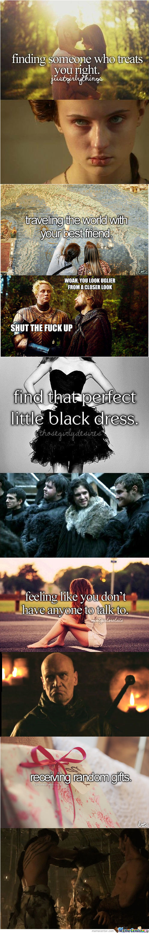 Game Of Thrones Responds To justgirlythings