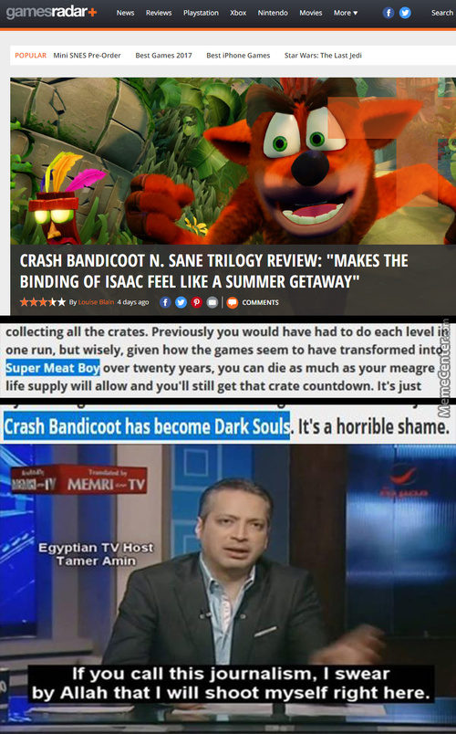 Gamesradar Please, Crash Bandicoot Is Much Harder Smh