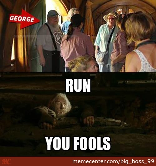 Gandalf's Reaction When He Found Out That George R. R. Martin Was In The Shire...