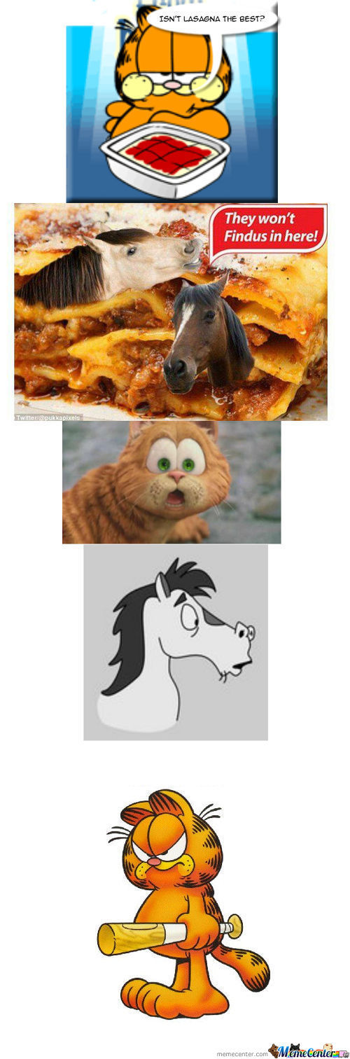 Garfield Response To Horse Meat Scandal