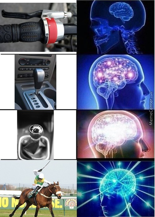 Gear Shift Expanding Brain