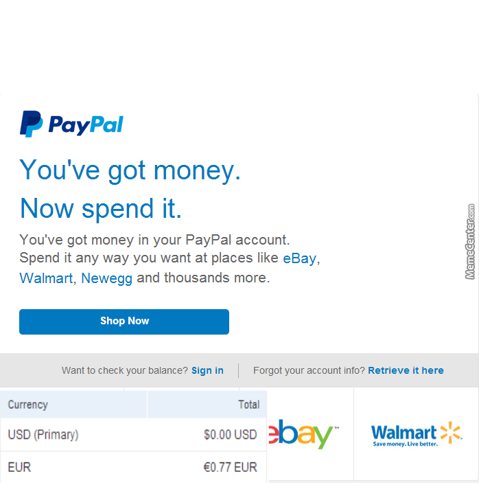 gee thanks paypal let me buy some stuff on walmart online_o_3174561 gee thanks paypal! let me buy some stuff on walmart online by