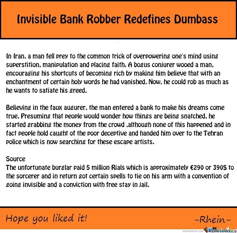 Genius Bank Robber