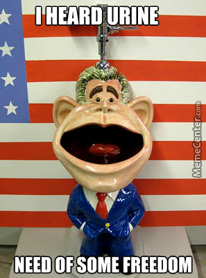 George Bush Gets A Golden Shower
