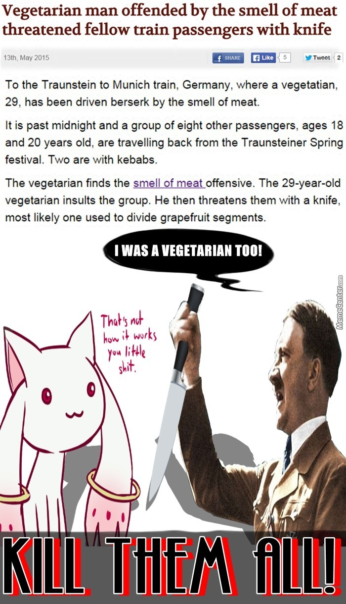 German Vegetarians Can Not Be Trusted!