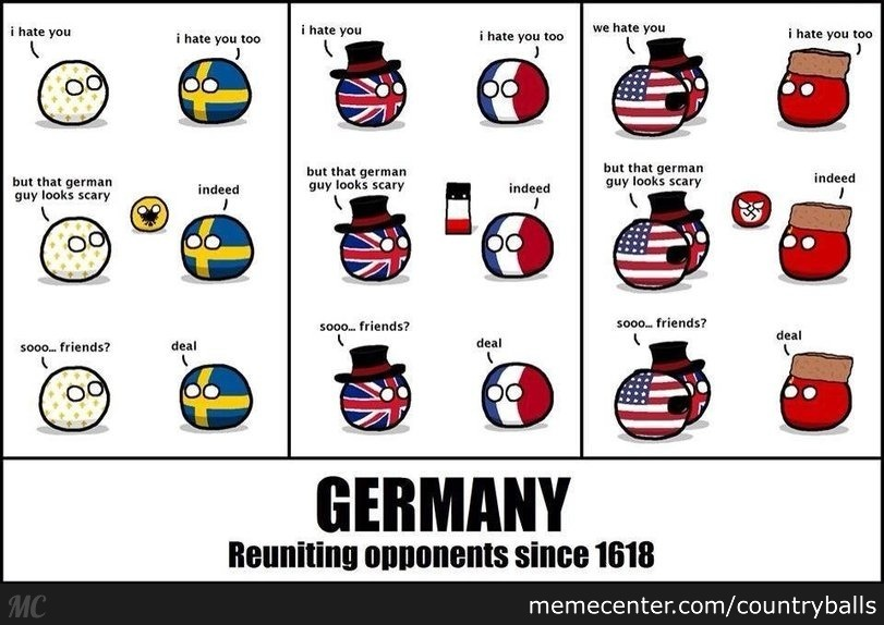 germany uniting opponents since 1618_o_2793929 germany uniting opponents since 1618 by countryballs meme center