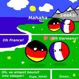 Germany And France By Countryballs Meme Center