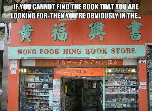 Get It? Cuz Your Looking For 'alice's Adventures In Wonderland' And This Is A Chinese Book Store...