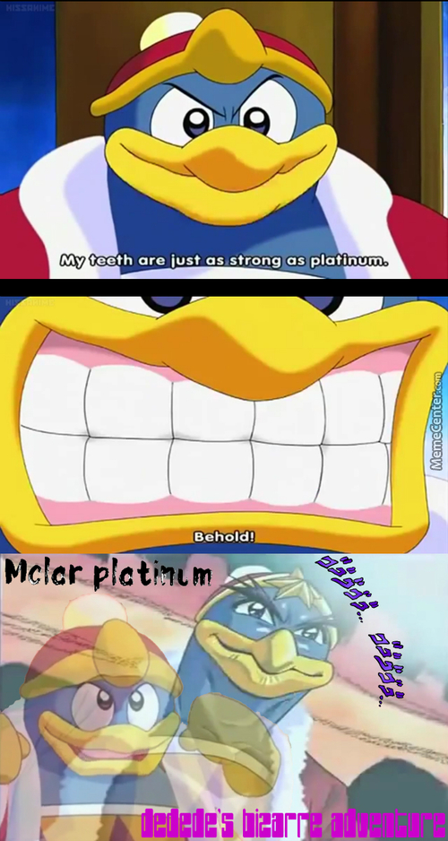 Get It? Star Platinum? Kirby Stando Da~! No? He Is A Penguin With Teeth What About That?