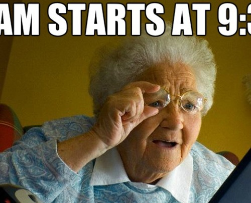 getting an old lady as your superviser in a exam_c_2473021 meme center rubmycarrot posts