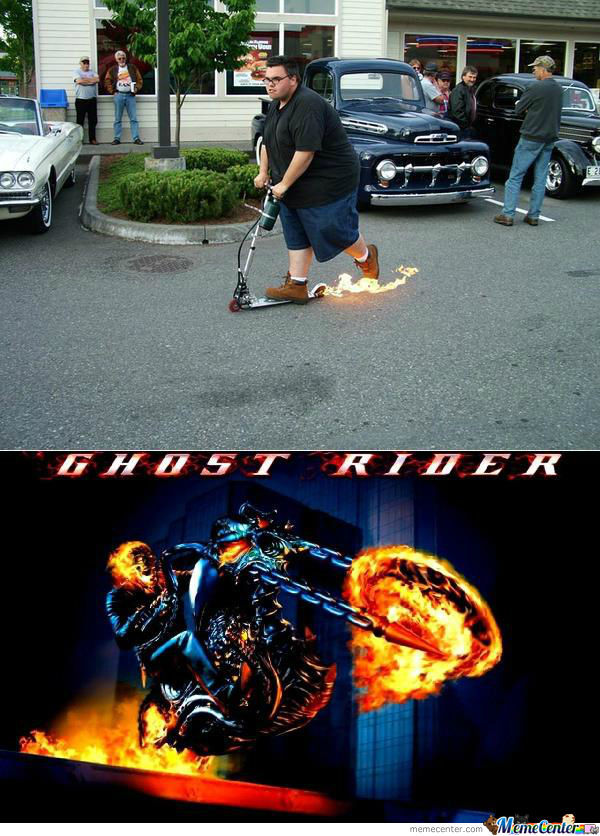 Ghost Rider On Real Life !!!