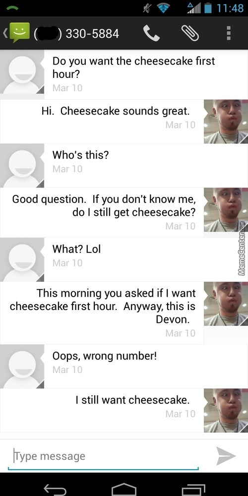 Gimme The Cheesecake.