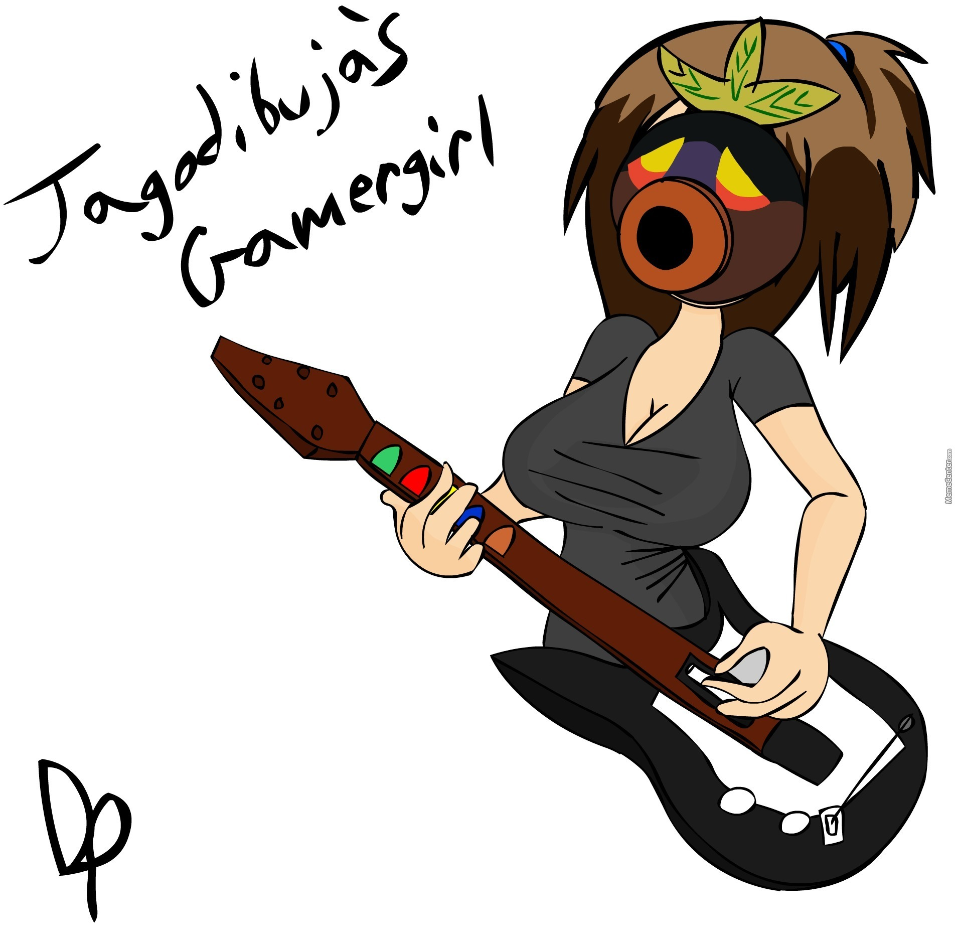 Girls Of Memecenter Day 26  Jagodibuja s Gamergirl. Girls Of Memecenter Day 26  Jagodibuja s Gamergirl by derpcouch3