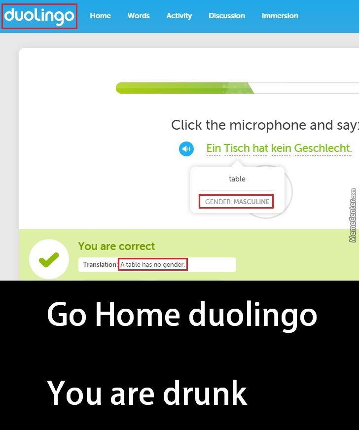 Go Home Duolingo by emptybox - Meme Center
