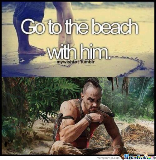 Go To The Beach With Him.