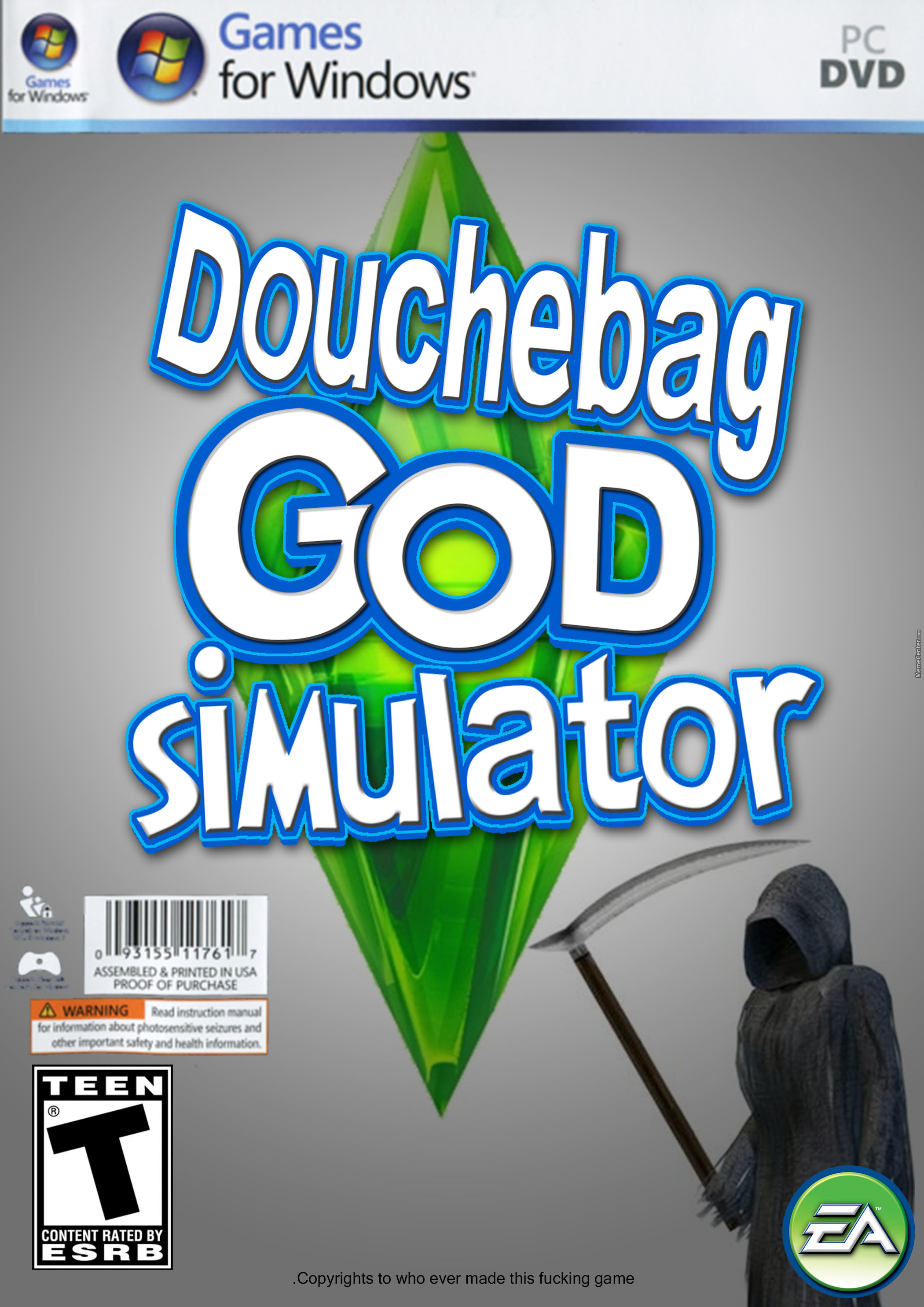 God Made Douchebag, God Being Douchebag. God Is Douchebag