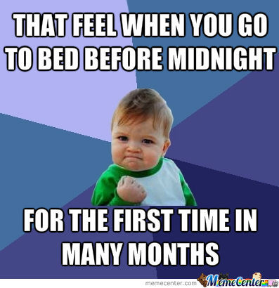 Going To Bed Early