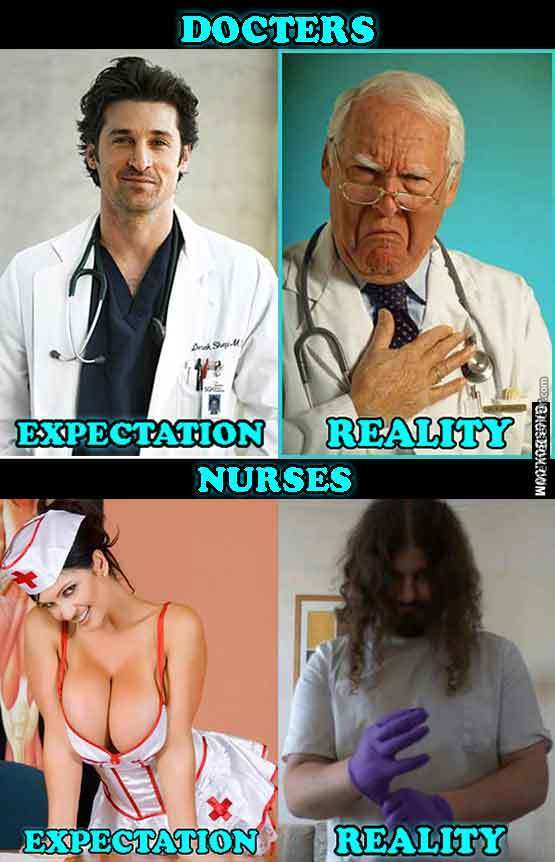 Going To The Doctor Expectation Vs Reality