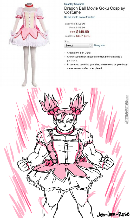 Image result for goku magical girl;