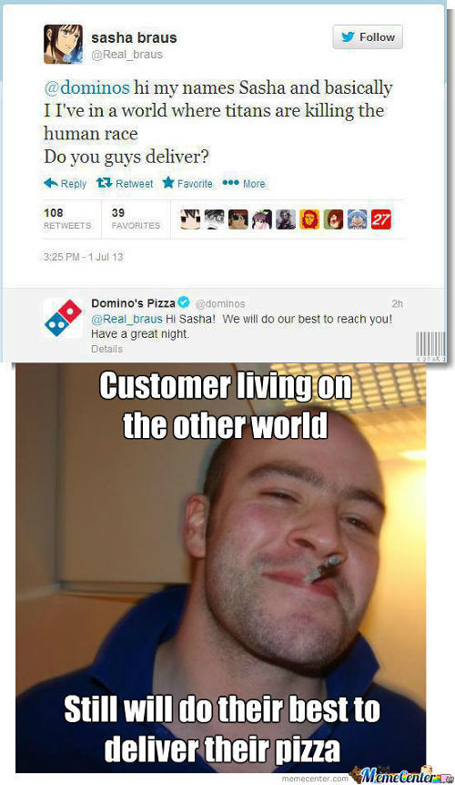 Good Guy Domino's Pizza