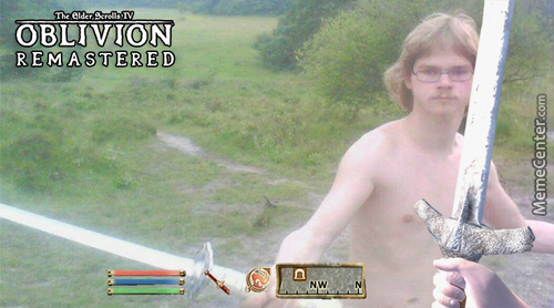 Good News Guys, Oblivion Is Being Remastered For The Next-Gen Consoles. Here's A Leaked Screenshot: