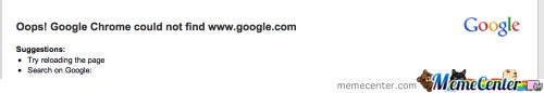 Google Chrome Coudn't Find Google..?.