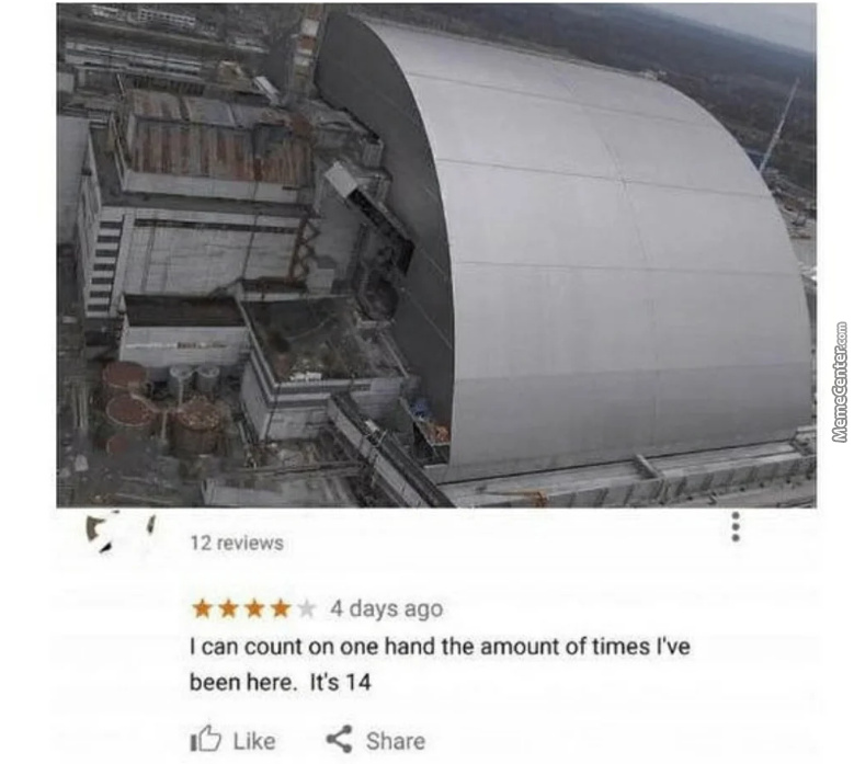 Google Review Of Chernobyl