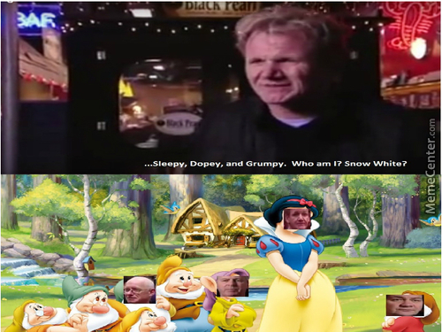 Gordon Ramsay As Snow White