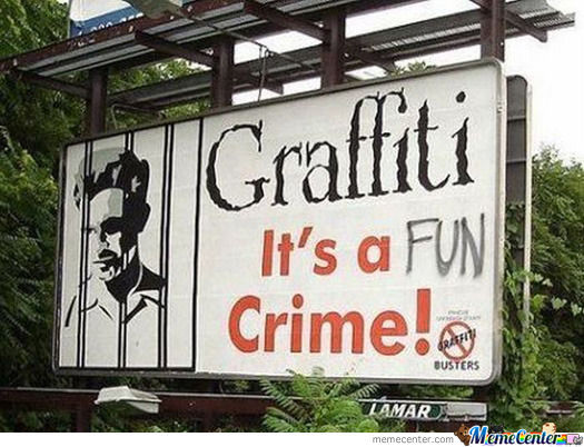 Graffiti Is A Crime