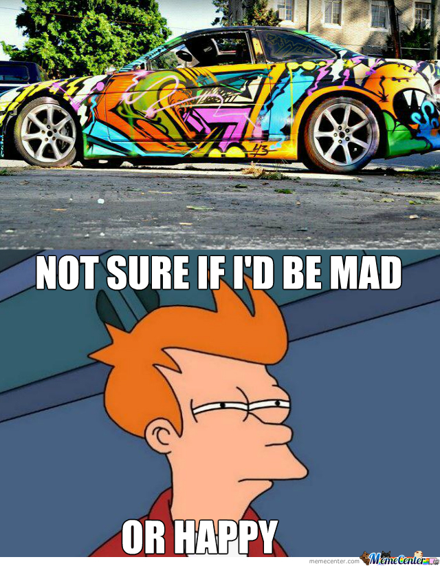 Graffiti On Car