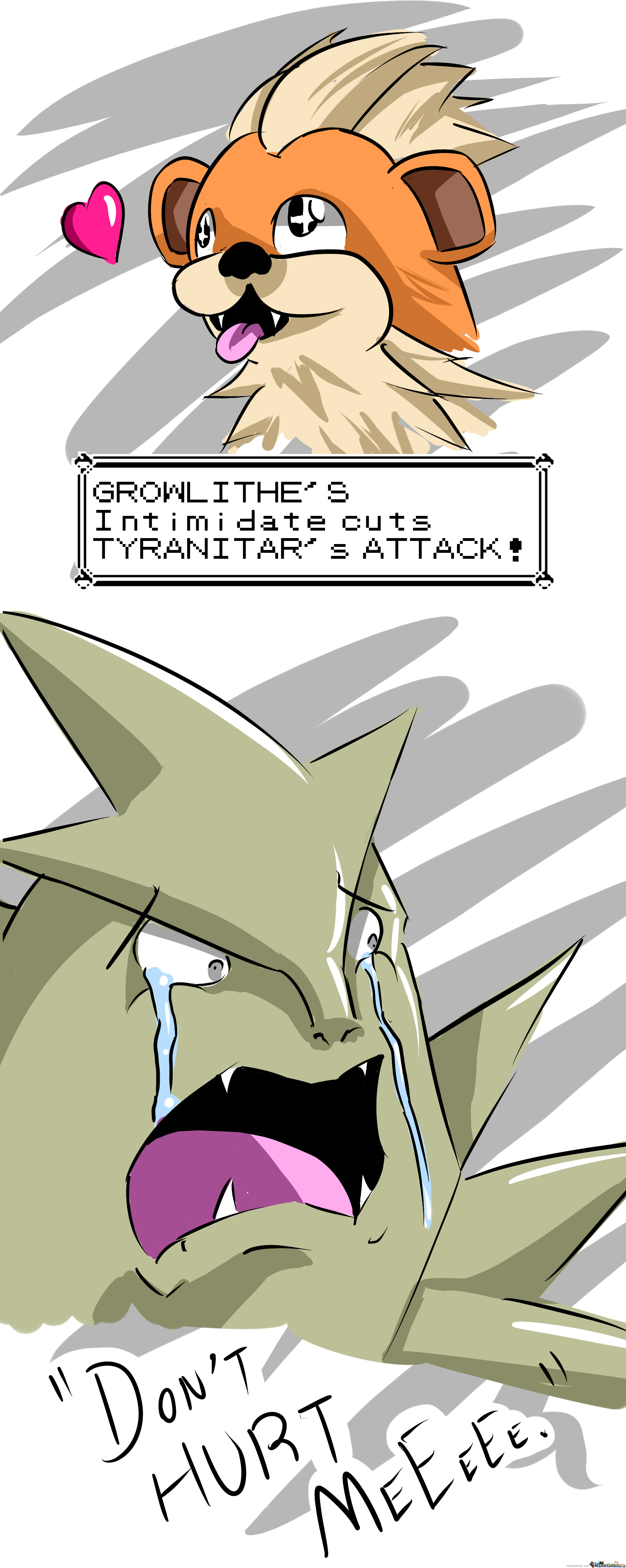 Growlithe Does Not Have Mercy.