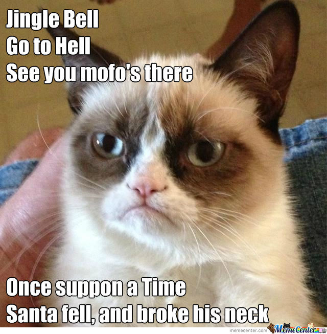 Funny Grumpy Cat Christmas Memes.Grumpy Cat Christmas Song By Drakesnight Meme Center