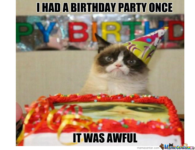 Grumpy Cat Had A Birthday Party Once
