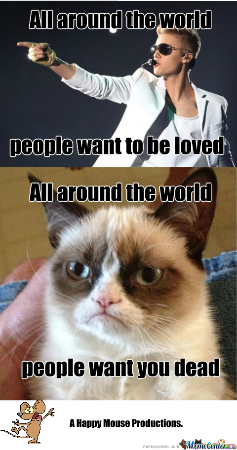 Grumpy Cat Hates Justin Too by happy_mouse - Meme Center