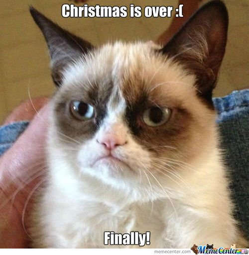 Grumpy Cat Is Happy That Christmas Is Over!