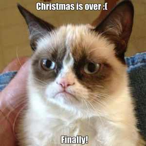 Christmas Is Over.Grumpy Cat Is Happy That Christmas Is Over By Onbekendegta