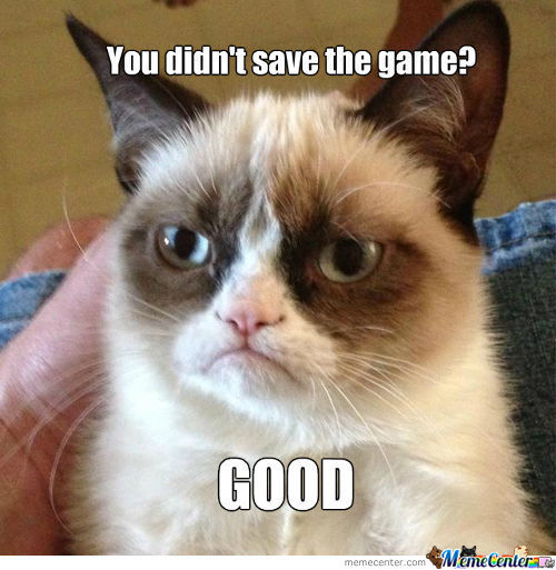 Grumpy Cat Never Save The Game