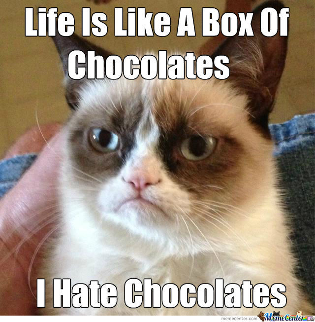 Grumpy Cat On Chocolates