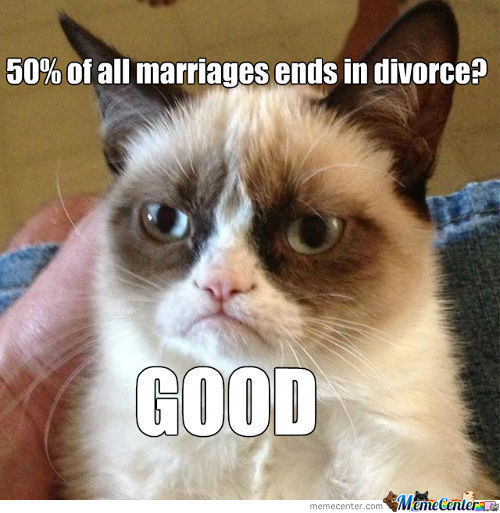 Grumpy Cat On Marriages