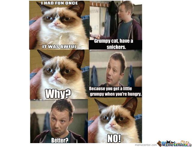 Grumpy Cat Snickers By Smoke225 Meme Center