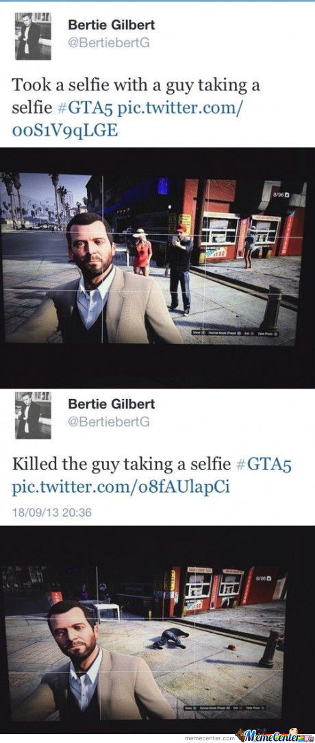 Gta 5 Selfie..man I Want To Play This Game